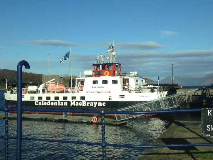 The Iona ferry Loch Buie resting in the sun at Rothesay's Berth 1A on 7th November 2016. Photo by Mike Blair.