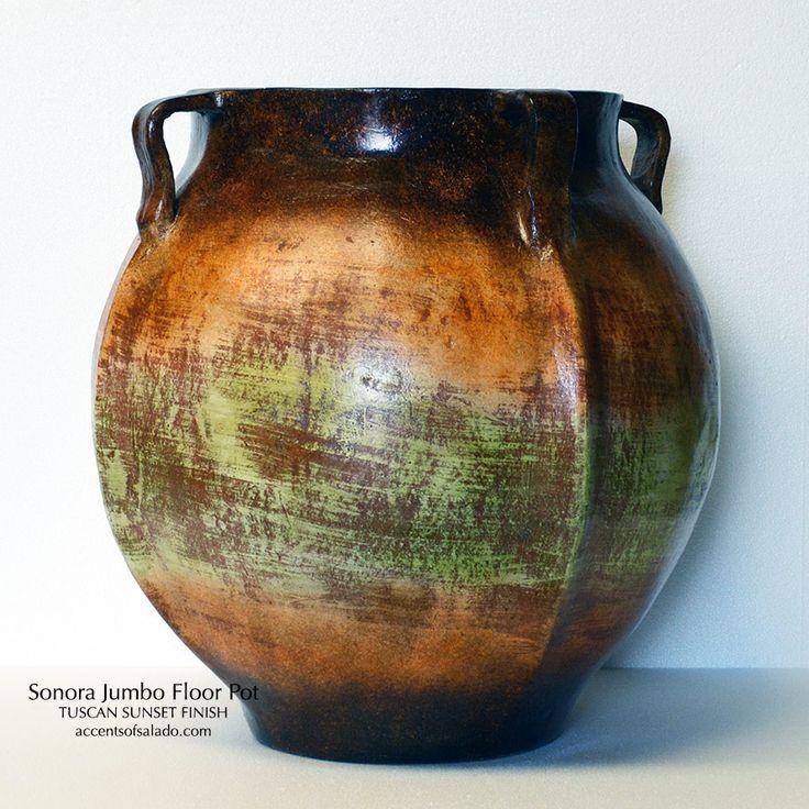 Sonora Jumbo Floor Pot. NEW From Accents Of Salado
