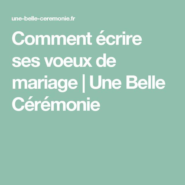 Comment écrire ses voeux de mariage   Une Belle Cérémonie