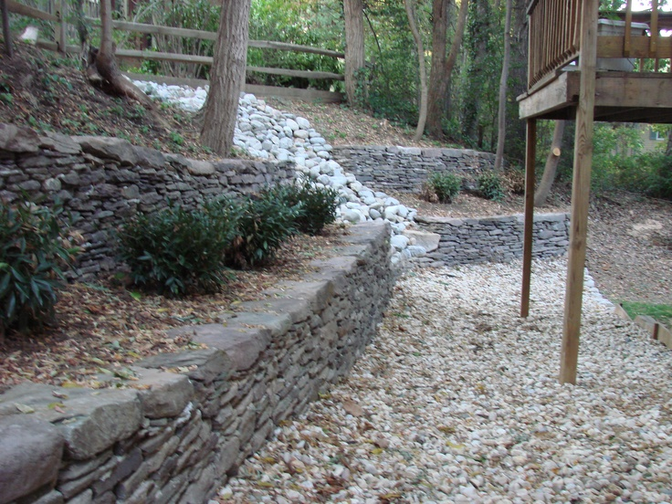 40 best images about retaining walls on pinterest for Outdoor drainage solutions
