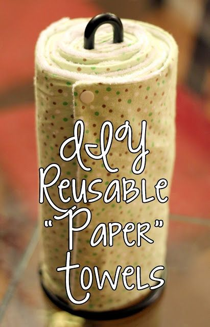 homevolution: DIY Reusable Paper Towels
