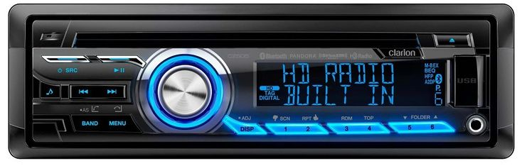 Clarion CZ505 Built-In HD Radio Tuner. Built-In HD Radio Tuner. Built-In Bluetooth w/ aptX for HFP/A2DP/PBAP/AVRCP. Android Media Playback via USB Mass Storage Mode. Pandora Internet Radio Control via iPod/iPhone and Android Smart Phone Connectivity. CD/USB/MP3/WMA Playback.