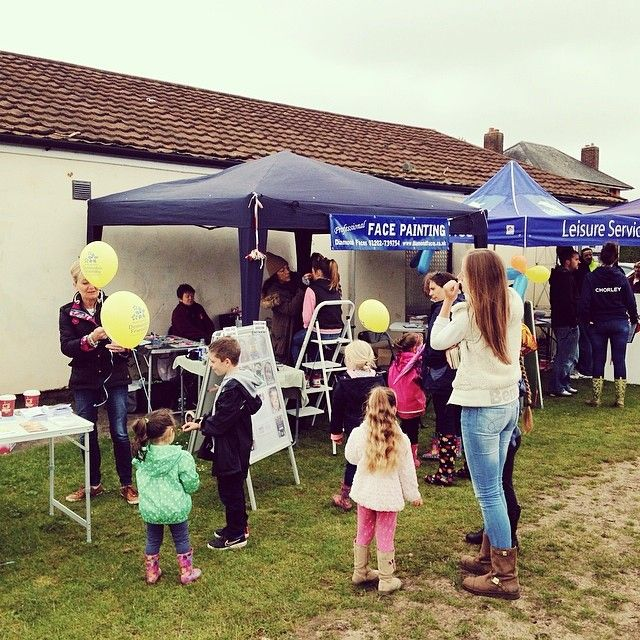 Face painting at the Family Fun Day at Haskell's Recreation Ground earlier today!