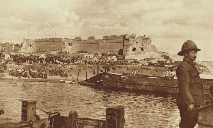 Gallipoli, 1915. Fort of Seddul-Bahr, at the entrance to the Dardanelles, destroyed by British naval gunfire.