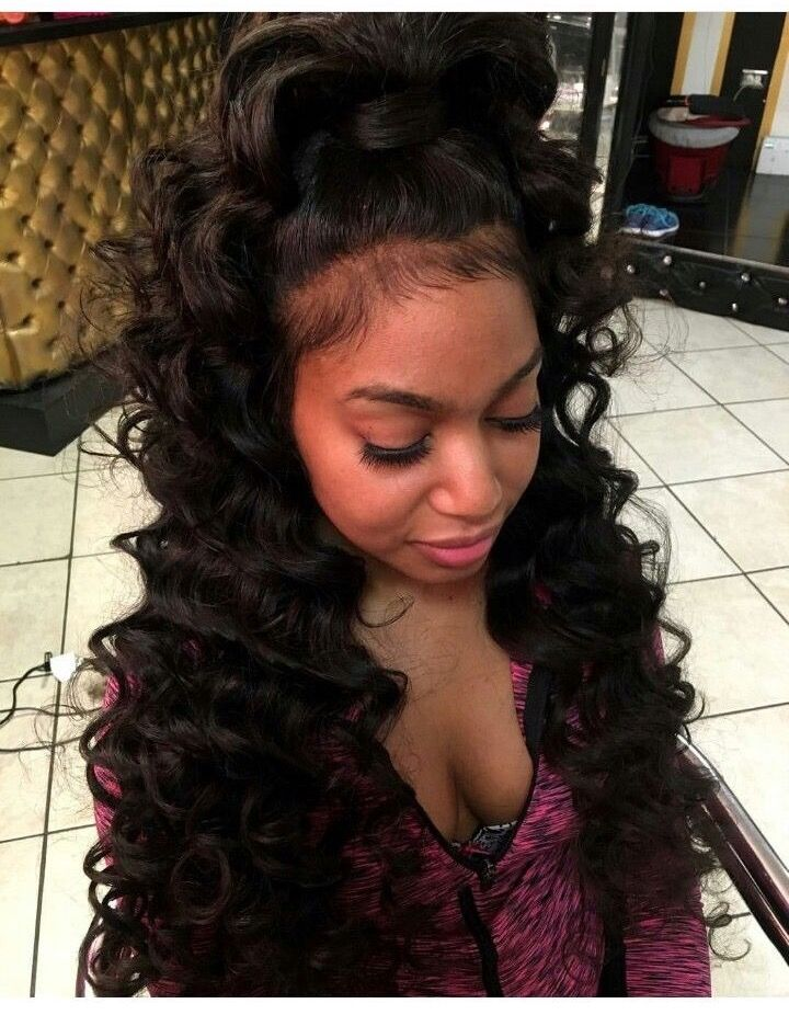 Wondrous 1000 Ideas About Curly Weave Hairstyles On Pinterest Weave Hairstyle Inspiration Daily Dogsangcom