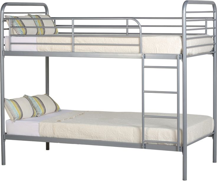 S Spt Furniture Bradley 3 Budget Bunk Bed Silver Assembled Sizes