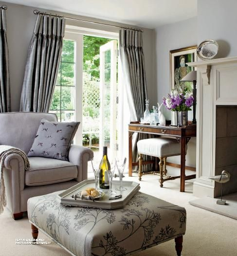 Nice Drapery Design In This Cozy Room Don T P Pinterest Home English House And Beautiful Homes