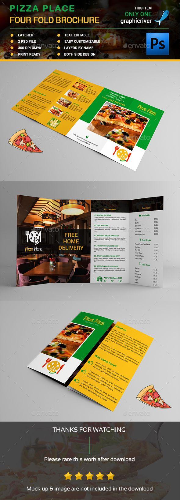 four fold brochure templates