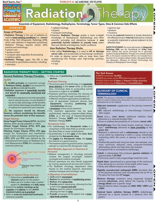 Radiation Therapy (9781423209812) | Career | Radiation
