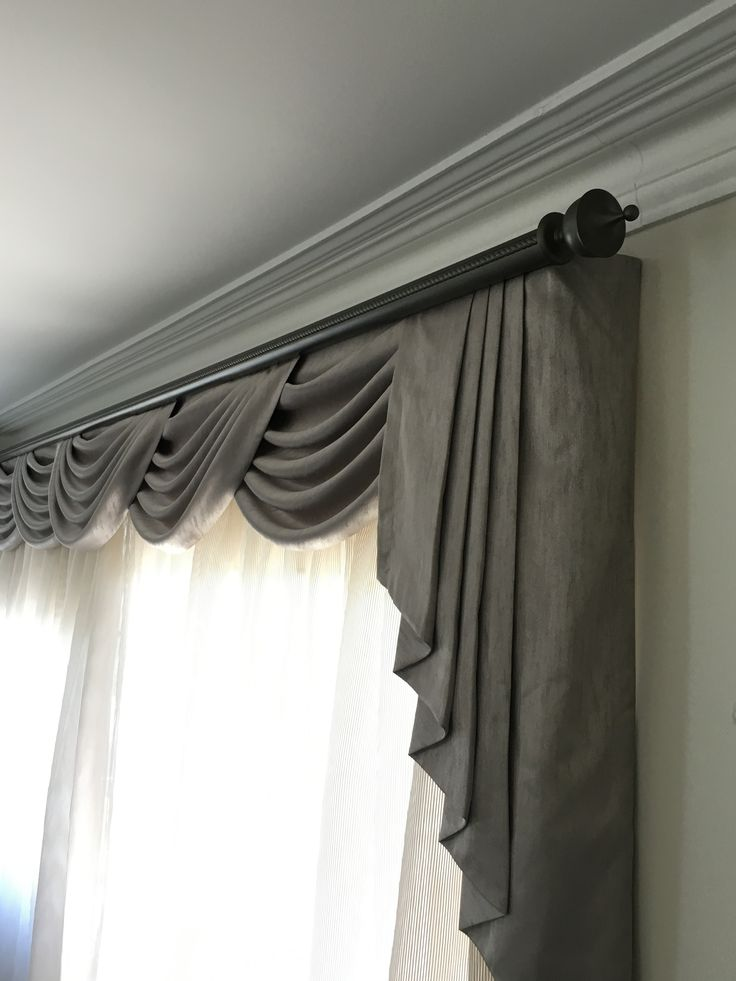 how valances windows make swag living room to in bay curtains curtain for