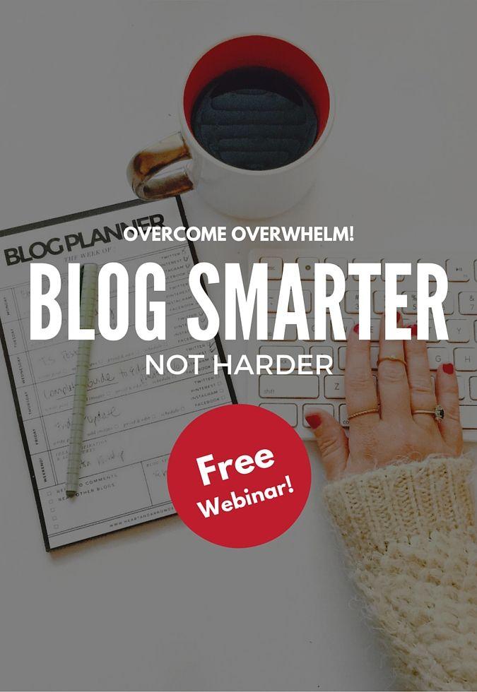 Free Webinar: Blog Smarter, Not Harder