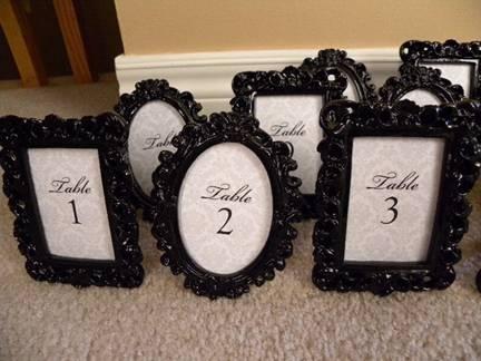ornate frames black