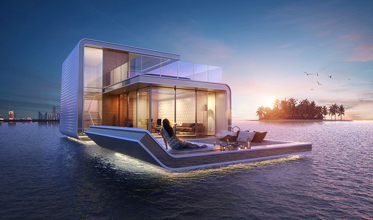 Luxury Floating Home With Underwater Rooms [CGI]