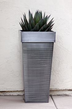 Contemporary Garden | Contemporary Landscape Design | Contemporary Landscaping - simple. Agave Blue Glow in a pot