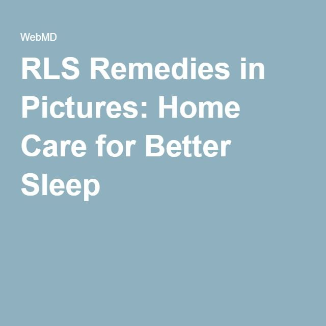 RLS Remedies in Pictures: Home Care for Better Sleep