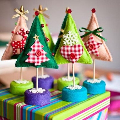 Kerstboom van vilt Kijk voor vilt eens op http://www.bijviltenzo.nl