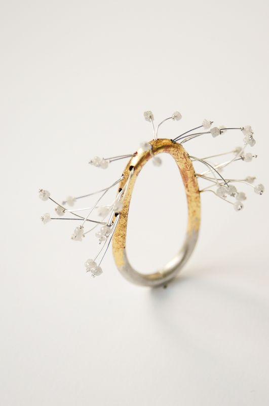 Kinetic Flower Ring(Willowed Sakura) by RuiKikuchi2010
