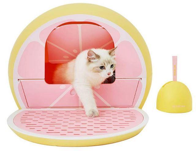 Vetreska Cat Litter Box With Lid Scoop Sifting Pan Cat Litter Box Litter Box Cat Litter