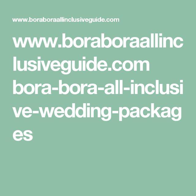www.boraboraallinclusiveguide.com bora-bora-all-inclusive-wedding-packages