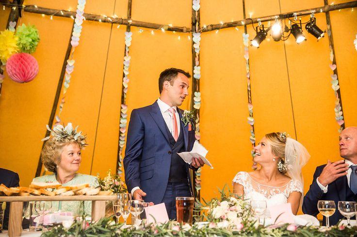 Tipi wedding by worldinspiredtents.co.uk, images by richardmurgatroyd.com #weddingtipis  #outdoorwedding #weddingideas #woodlandwedding #festivalwedding #bohowedding #weddinginspiration