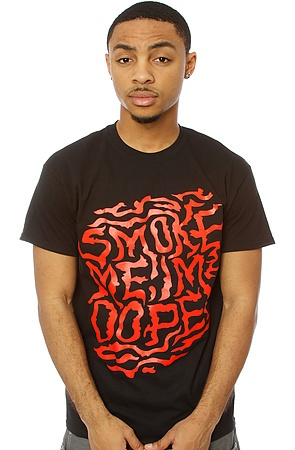 The Smoke Me 2 Tee in Black and Red L XL S M