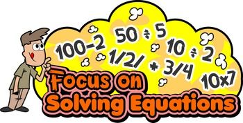 Solving Equations! Solving Equations! Solving Equations! Who Needs Help with Solving Equations?These 31 Solving Equations games and activities will help you to learn the concepts of algebra and show you how to solve algebraic equations and expressions.  You can also find more free #math ideas here: https://www.teacherspayteachers.com/Store/Mathfilefoldergames/Price-Range/Free