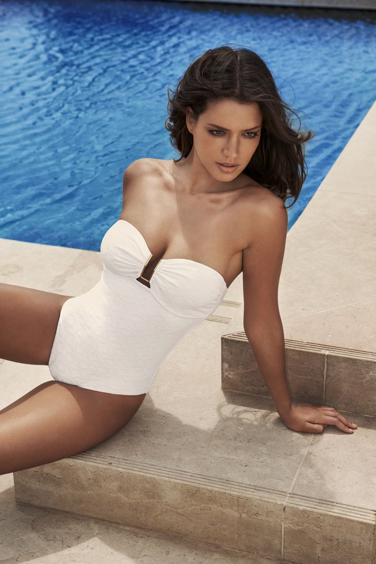 "Melissa Odabash 2015 Collection - ""Argentina"" - Bandeau One Piece - www.odabash.com"