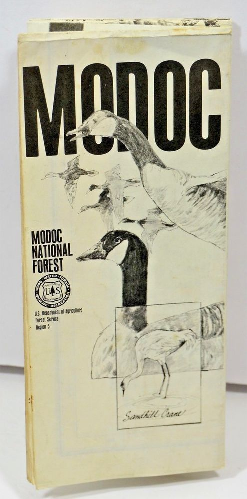 1977 Modoc National Forest Service Map California USDA VTG Old Mt Diablo