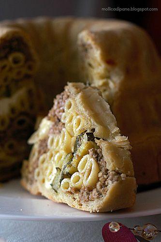 Timballo di pasta in crosta   a beautiful dish to prepare for a special occasion (google translate)