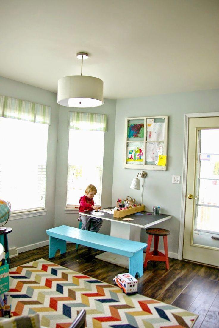 Furniture rearrangement feels like a new home kid art room diy
