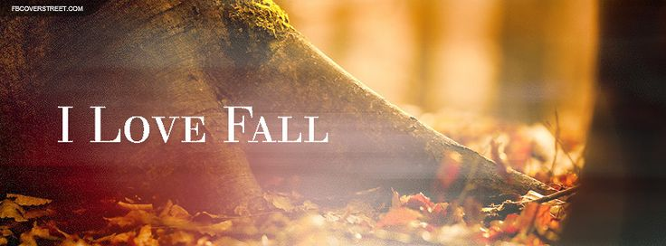 I Love Fall Quote Facebook Cover Wallpaper