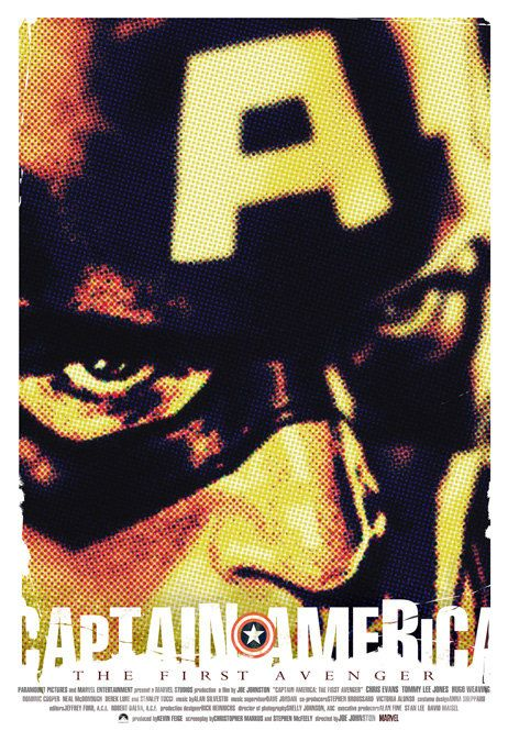 Captain America-The First Avenger  - 12x18 - Movie Poster -  by Duke Dastardly