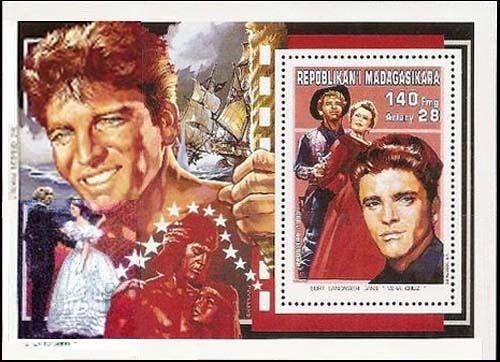 «100 лет Синема» (100eme Anniversaire du Cinema), которую в 1995 году выпустила Почтовая служба Республики Мадагаскар, посвящена Берту Ланкастеру.