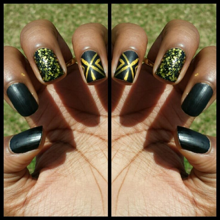 Matte/black and gold