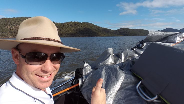 Camper John and #GRUMBLEBUM heading up the Hawkesbury River to #GentlemansHalt #campground on our #GTFO #GetTheFamilyOutdoors #adventure #Marramarra #free #camping #tinny