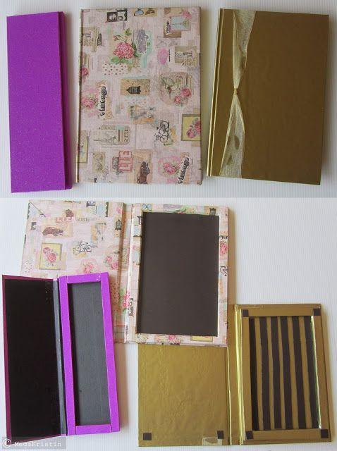 DIY Makeup Palette from Wedding Invitation Card/Cardboard with/without magnet sheet | Mega Kristin