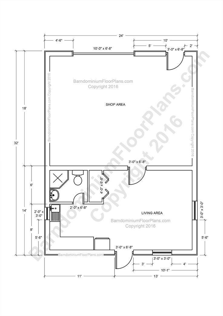 De 25 bedste id er inden for barndominium prices p for Barndominium floor plans with shop