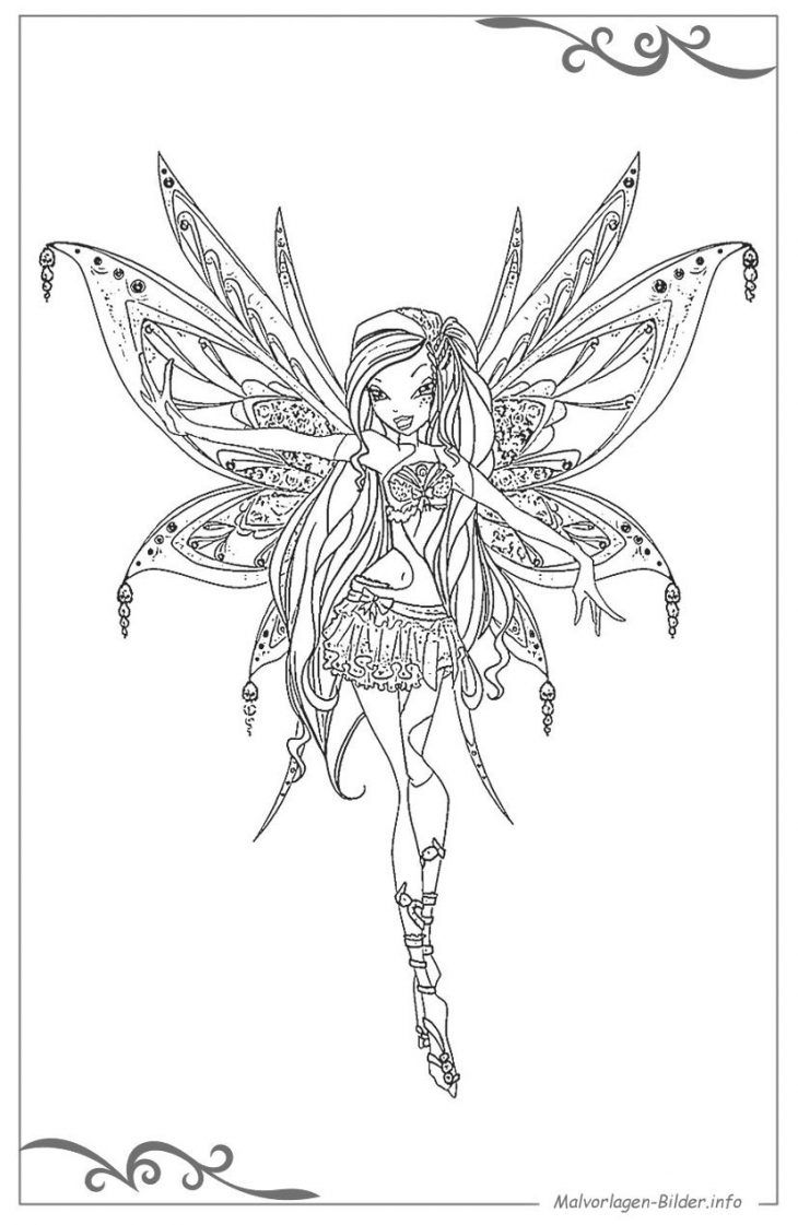 Ausmalbilder Winx Club Coloring Book Pages Adult Coloring