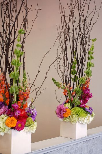 Unique flowers that are perfect for creating a ceremony focal point, either on the ground OR on a table. Use later at the wedding couples table or serving tables.