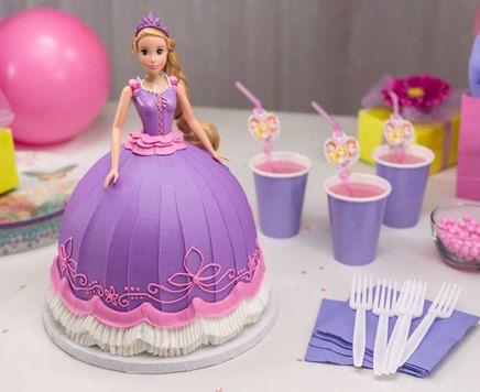 How-To Make a Disney Princess Rapunzel Doll Cake