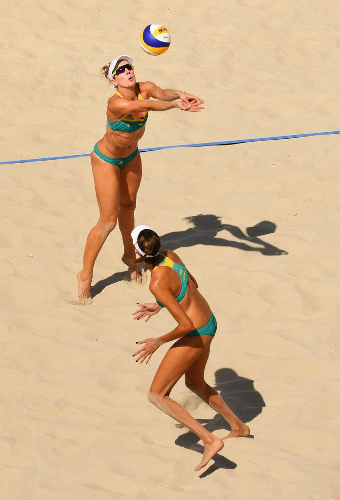 DAY 1: Women's Beach Volleyball - Australia vs Costa Rica - Louisa Bawden and Taliqua Clancy of Australia