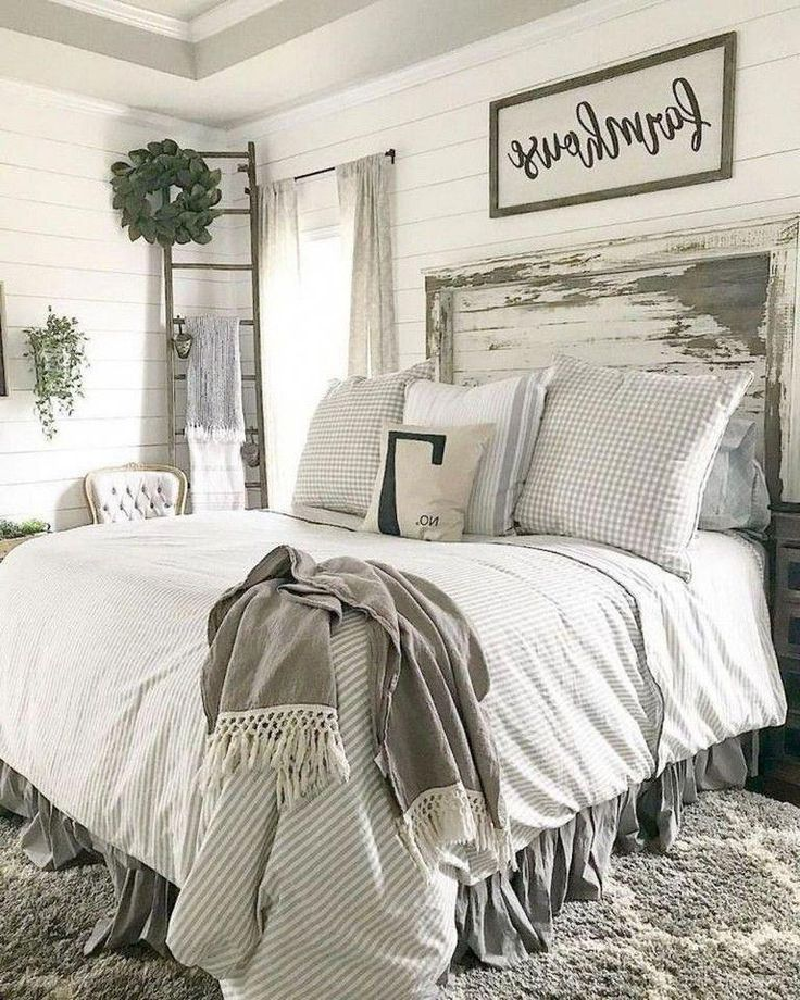 40 Best Bedroom Decor And Design Ideas With Farmhouse Style Bedroom Bedroomdecor Bedroomdesi Farmhouse Bedroom Decor Rustic Farmhouse Bedroom Bedroom Design