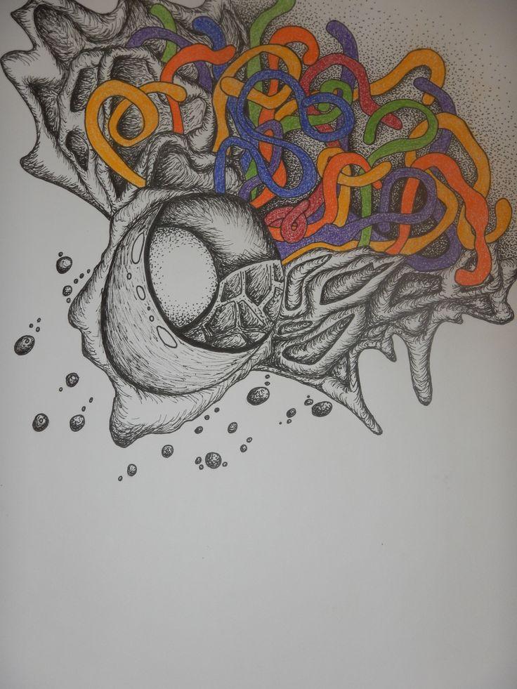 Adding a bit of colour. #doodleart