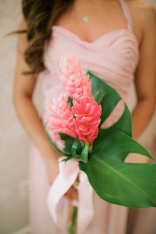Tropical Bridesmaids Bouquet Anna Kim Photography