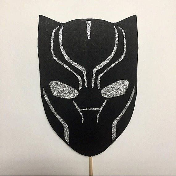 Marvels Black Panther Cake Topper. Made with Premium Card Stock. Measures 4 wide and 5.5 high