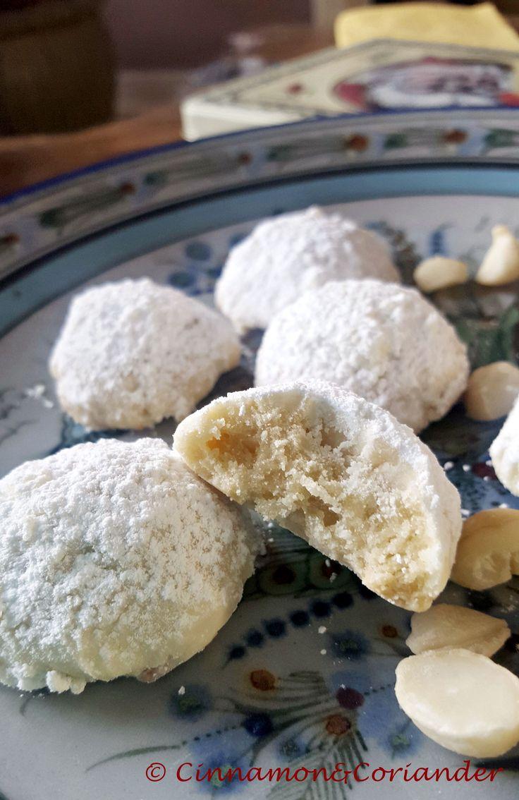 Macadâmia e bolachas com bola de neve de chocolate branco   – Backen
