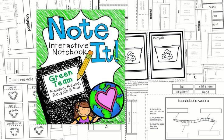 Recycling Interactive Notebooks - The Teacher Bag