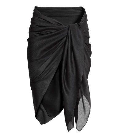 Schwarz. Pareo aus zartem Webstoff. Größe 140x150 cm.  Pareo  5,99