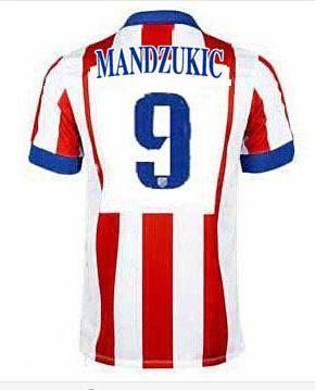 Atletico Madrid magliette da calcio 2015 MANDZUKIC 9 - Home