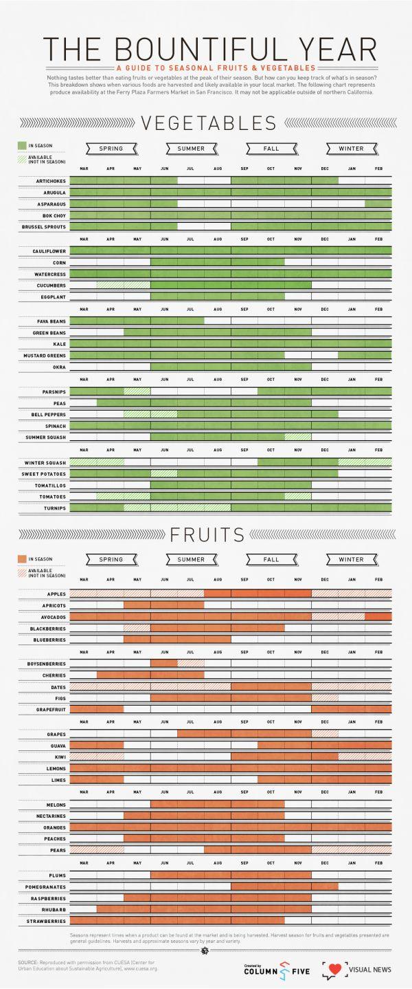 The Bountiful Year: A Visual Guide To Seasonal Produce
